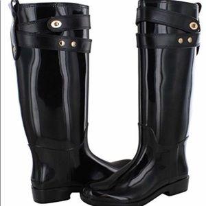 Coach Patent Leather Rainboots